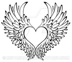 Cute center for heart tattoo. Wings need to be adjusted Cute center for heart tattoo. Wings need to be adjusted Engel Tattoos, Dog Tattoos, Cat Tattoo, Body Art Tattoos, Animal Tattoos, Sleeve Tattoos, Turtle Tattoos, Tattoo Outline, Heart With Wings Tattoo