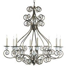 Currey and Company 9339 Seaglass 8 Light 1 Tier Chandelier