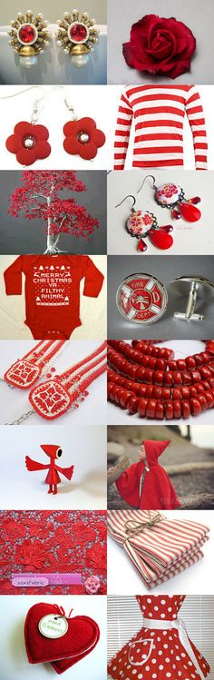 Christmas Reds by Donna Zuk on Etsy--Pinned with TreasuryPin.com