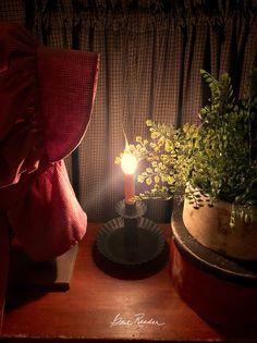Primitive Lighting, Primitive Decor, Primitives, Vignettes, Candlesticks, Colonial, Living Rooms, Sweet Home, Cottage