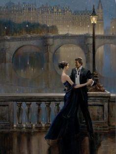 couple; lovers; dancing; dance; beautiful; beauty; paintings; painting; art; artists; romantic; romance; love