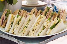 Try dainty sandwich recipes for afternoon tea, including smoked salmon and coronation chicken fillings.How to serve for afternoon tea: Cut your sandwiches into elegant, rectangular or triangle-shaped slices, garnished with fresh herbs.Classic afternoon tea sandwich recipes:Get the recipe: Coronation chicken (pictured)Get the recipe: Smoked salmon and avocado sandwichesGet the recipe: Tuna mayo sandwichMore of our favourite sandwich fillings