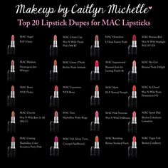 MAC Lipstick Dupes | Makeup by Caitlyn Michelle