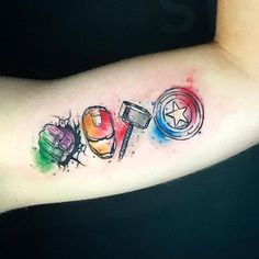 ärmeltätowierungen mann - Icône de tatouage Avengers The Effective Pictures We Offer You About diy projects A quality pictu - Thor Tattoo, Avengers Tattoo, Ironman Tattoo, Comic Tattoo, Marvel Tattoos, Deadpool Tattoo, Spiderman Tattoo, Tattoo Arm, Body Art Tattoos
