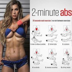 The Best Bodybuilding Workouts Program: The 15 Minute Hot ABS Workout Fitness Workouts, Fitness Motivation, Sport Fitness, Body Fitness, At Home Workouts, Health Fitness, Health Logo, Health Goals, Women's Health