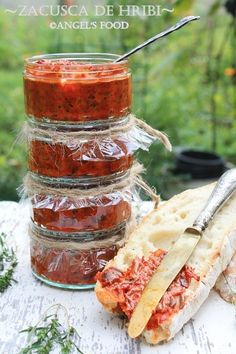 ''Zacusca de hribi'' ~vedeta Standului meu culinar la Electrolux taste Festival III Artisan Food, Romanian Food, Canning Recipes, Preserves, Camembert Cheese, Deserts, Sweet Home, Food And Drink, Homemade