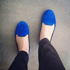 i really want some loafers like these blue suede ones! <3