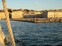 Il molo Audace a Trieste, visto dal mare