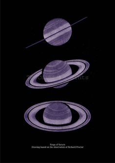 Rings of Saturn Planet Astronomy Print by TheCuratorsPrints, $22.00