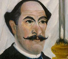 Henri Rousseau  1844 - 1910  Detail from Henri Rousseau, Self Portrait with a Lamp, 1902-3