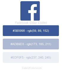 Resultado de imagen para código rgb de facebook Facebook