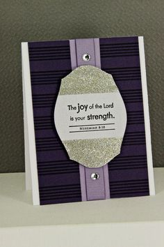 Joy Of The Lord Card by Erin Lincoln for Papertrey Ink (October 2012)