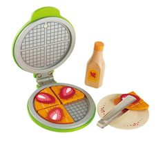 Hape - Instant Waffles Wooden Play Food Set 105kr