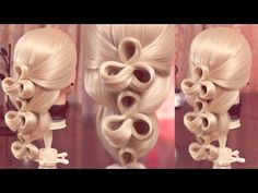 "Hairstyle for school - Коса - ""Очки"" на резинках - Hairstyles by REM - YouTube"