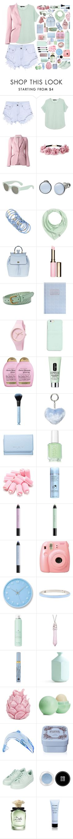 """Mint, Blush, and Baby Blue"" by dragondesign ❤ liked on Polyvore featuring OneTeaspoon, 360 Sweater, Alexander McQueen, Forever 21, Topshop, Skagen, Berry, Dolce&Gabbana, Clarins and FOSSIL"