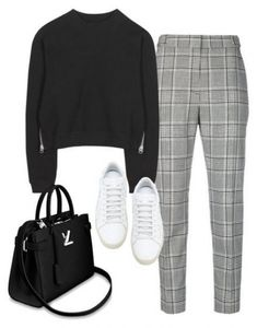 Square pants + black knit sweater + white All Star knitwear - Outfits & Beauty - Mode Outfits, Outfits For Teens, Fall Outfits, Casual Outfits, Fashion Outfits, Fashion Ideas, Fashion Clothes, Club Outfits, Office Outfits