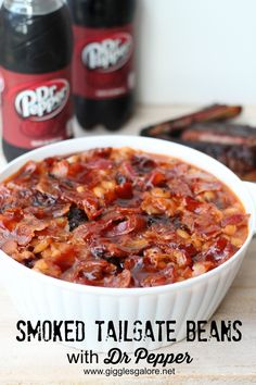 Smoked Tailgate Beans with Dr Pepper