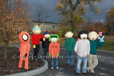 Great site with tons of costume ideas. Coolest Homemade South Park Group Costume.