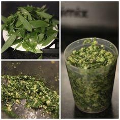 Wild garlic pesto made using leaves from Cranham Woods - published at nipitinthebud.co.uk Wild Garlic Pesto, Herbs, Snacks, Woods, Recipes, Leaves, Appetizers, Woodland Forest