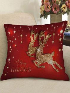 Meery Christmas, Hello Kitty Christmas, Christmas Bedding, Christmas Cushions, Homemade Christmas, Christmas Crafts, Christmas Ornaments, Linen Pillows, Decorative Pillows