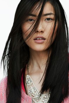 natural + thick brows. liu wen for zara. one of my favorite models.