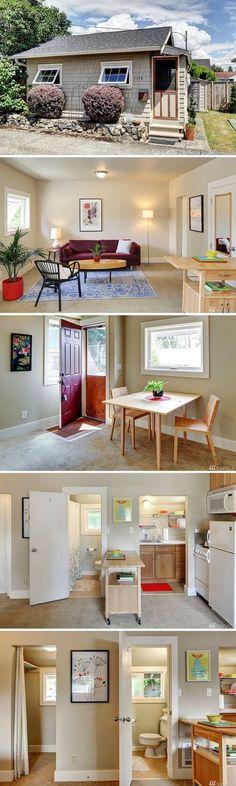 mytinyhousedirectory: 360 sq. ft. Cottage ~ Earl Avenue Tiny House