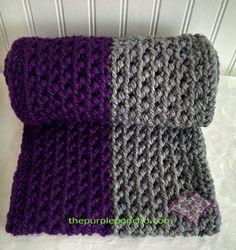 Color Block - Herringbone Infinity Scarf by The Purple Poncho  A Free Crochet Pattern