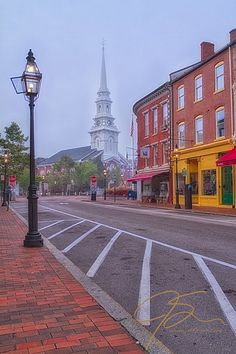Downtown Portsmouth,New Hampshire