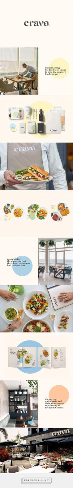 Crave on Behance - created on Corporate Design, Branding Design, Restaurant Branding, Brand Packaging, Brand Identity, Cravings, Behance, Logo, Cafes