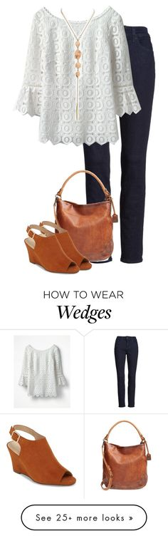 """Jody K."" by mloveless-1 on Polyvore featuring NYDJ, Boden, Frye, Treasure & Bond and Athena Alexander"