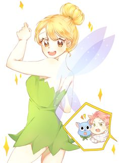 Lucy cosplaying as Tinkerbell this is adorable