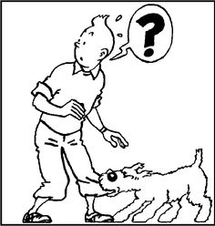 Biting Pants Snowy Tintin coloring picture for kids