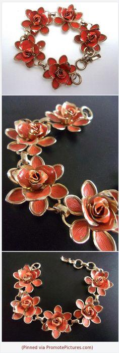 Orange Enamel Flower CORO Bracelet, Gold Trim, Vintage #bracelet #coro #flower #orange #enamel #floral #vintage #goldtrim https://www.etsy.com/RenaissanceFair/listing/596963911/orange-enamel-flower-coro-bracelet-gold?ref=listings_manager_grid  (Pinned using https://PromotePictures.com)