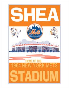New York Mets Shea Stadium 1964 print