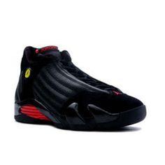 quality design b31ea f52c5 Nike Air Jordan 14 Retro Black (Noir) Red (Rouge) Cheap Jordan Shoes