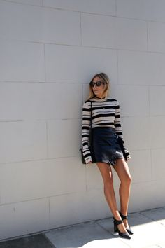 9 Ways To Style A Leather Skirt