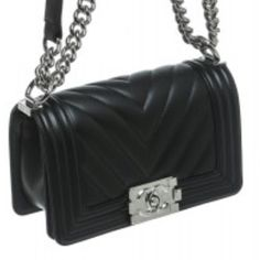 Chanel Black Chevron Lambskin Shoulder Mini Boy Bag Sooo Beautiful and Perfect #avalible @onquestyle #store #coronadelmar #online #onlineshopping #onlineboutique #onquestyle #chic #coco #chanel #fab #fun #fashion #fashionista #fashionaddict #fashionbloggers by kirstenprosser