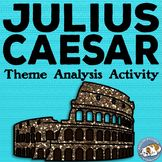 Julius Caesar Themes Textual Analysis Activity