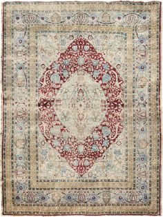 "ANTIQUE SILK TABRIZ Origin: PERSIA Size: 4' 1"" x 5' 4"" Rug ID # 1351"