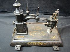 Antique Charles Parker (Howe) Sewing Machine Cast Iron