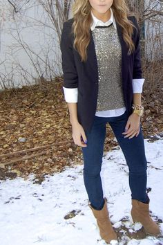 PolishedandPink: Sequins make me Smile.  Love it!  And since I already own the top....I think I can recreate this outfit. Thanks @Whitney Nichols
