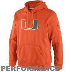 Nike Miami Hurricanes KO Performance Hoodie – Orange  >> For more info click the picture ♥