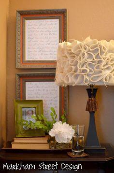 DIY Burlap Lamp Shade- Perfect for LR/FR