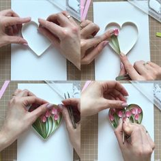 Excited to share the latest addition to my shop: Quilling video tutorial - How to make heart with tulips - Video lesson - love card Quilling Videos, Paper Quilling For Beginners, Quilling Techniques, Paper Quilling Designs, Quilling Paper Craft, Quilling Flowers Tutorial, Quilling Supplies, Quilling Instructions, Paper Flower Art