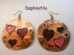 Hearts in love Love is in the air Daphnofila earrings