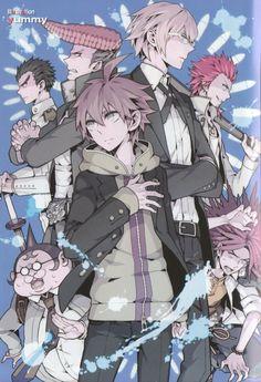 Delinquent X Nerd Danganronpa Game, Danganronpa Characters, Ishimaru Kiyotaka, Leon Kuwata, Byakuya Togami, Makoto Naegi, Danganronpa Trigger Happy Havoc, Familia Anime, Only Play