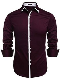 Coofandy Men's Contrast Color Button Down Dress Shirts Ca... http://www.amazon.com/dp/B019DYE95U/ref=cm_sw_r_pi_dp_cdhixb083QQVD