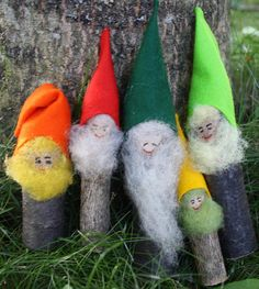 Twig and Toadstool: A Family of Twig Gnomes!!!!