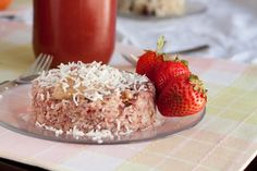 """5 minute Strawberry Quinoa Flake Bake. PS Spell check didn't recognize """"quinoa""""... just upped the intrigue-factor."""
