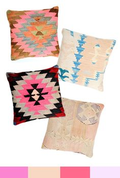 new kilim pillows in neons & neutrals - LEIF